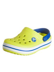crocs-clogs-crocband-kids-in-gelb-weiss-blau