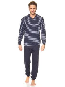 pyjama-in-dunkelblau-hellblau