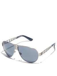 herren-sonnenbrille-in-silber-dunkelblau